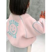 lovely Street Print Pink Girl Coat