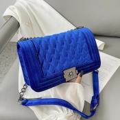 Lovely Stylish Chain Strap Blue Crossbody Bag