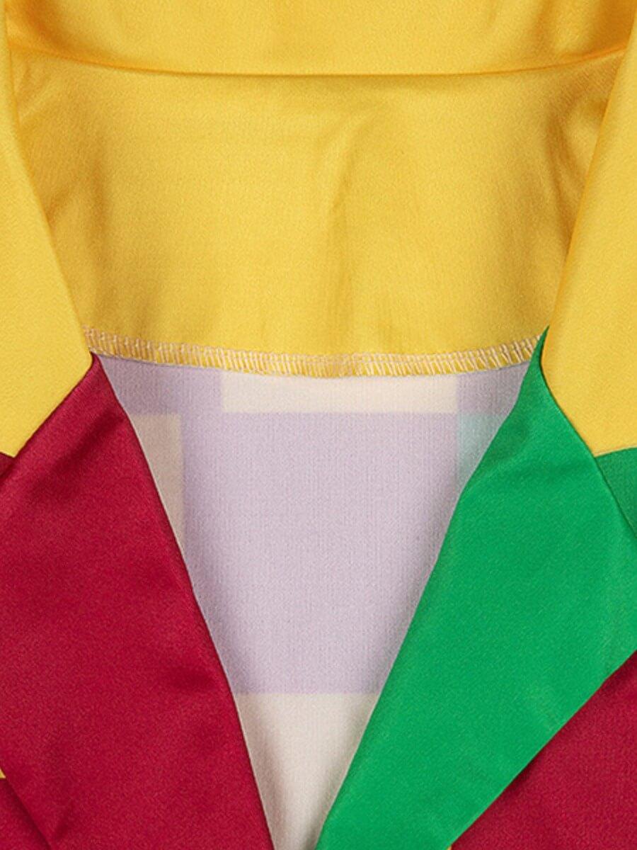 Lovely Trendy Turndown Collar Print Multicolor Bla