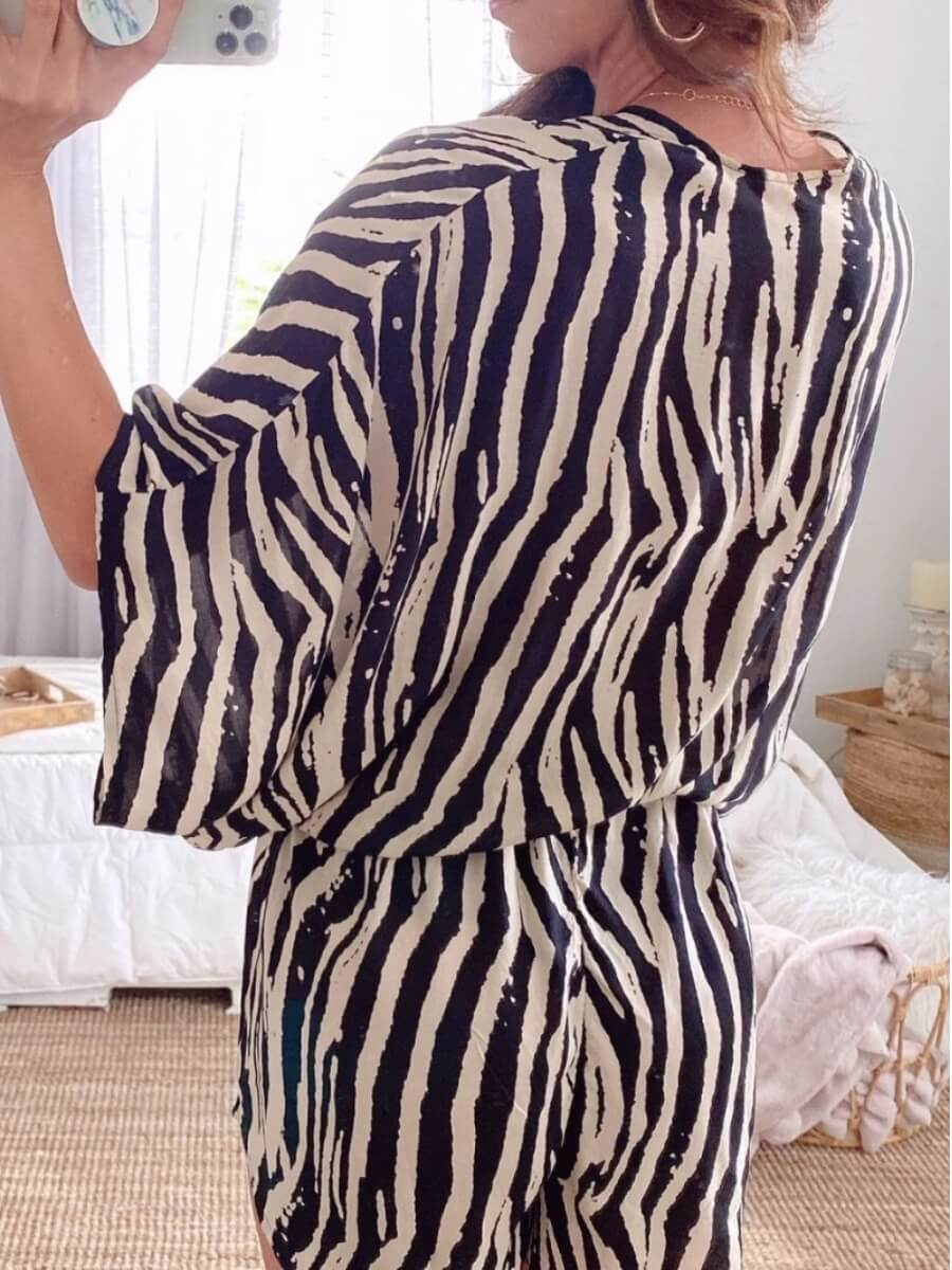Lovely Chic Striped Black Brown One-piece Romper