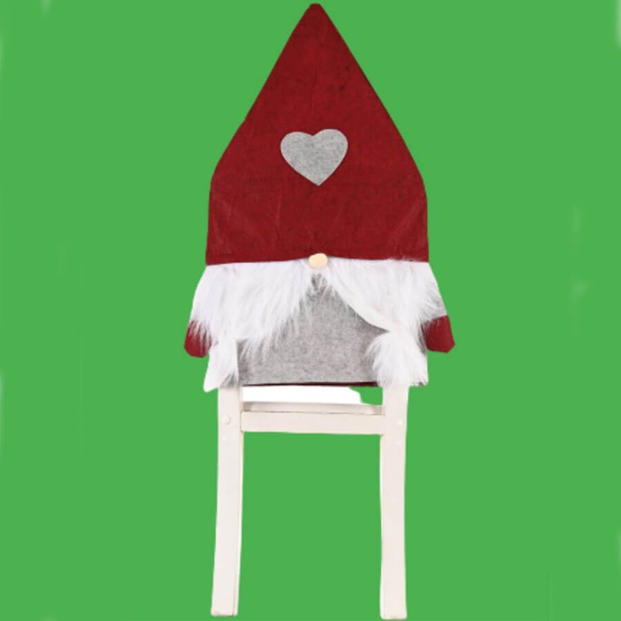 Lovely Christmas Day Patchwork Red Chair Cover
