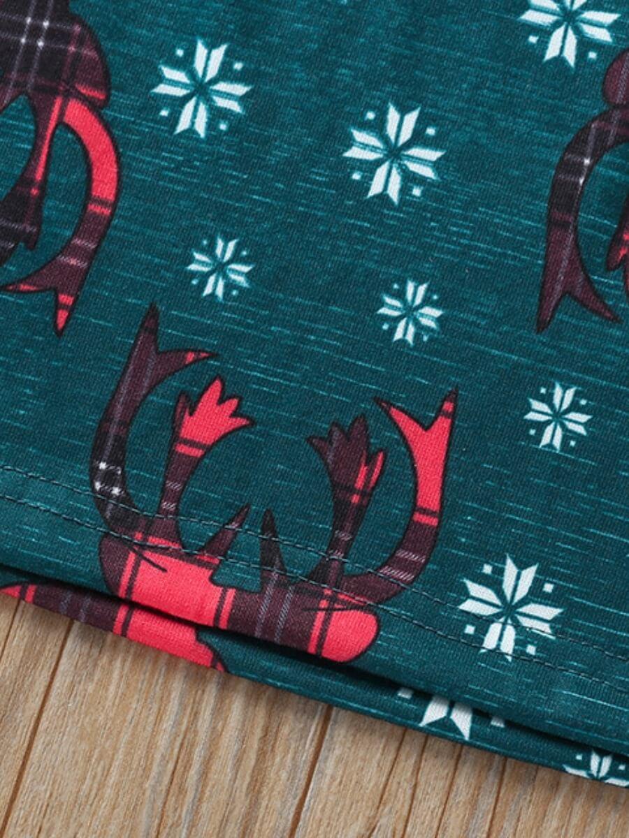 Lovely Trendy Christmas Day Print Patchwork Black