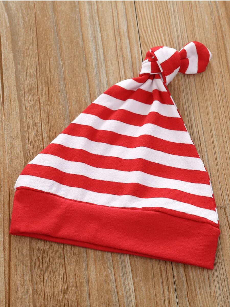 Lovely Trendy Christmas Day Striped Patchwork Red