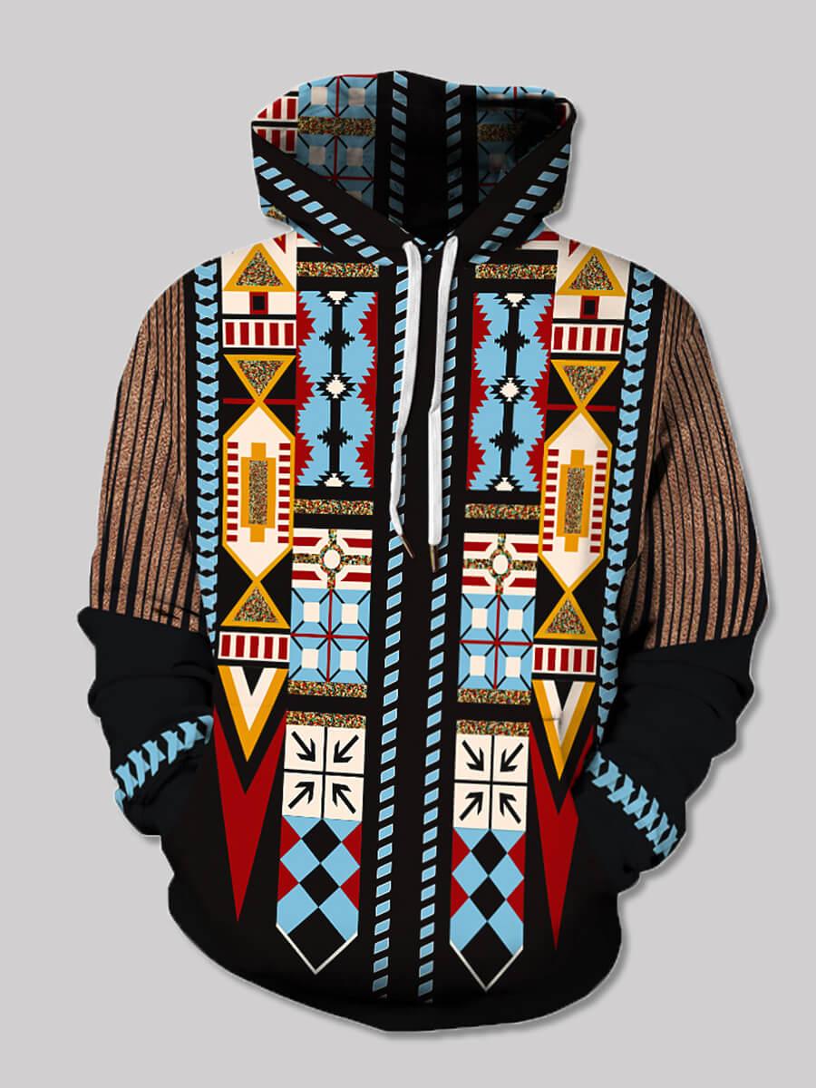 Lovely Street Hooded Collar Graffiti Element Print