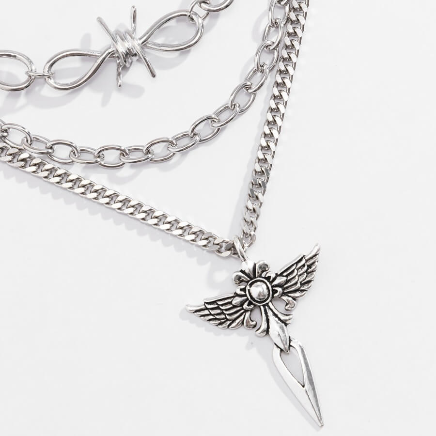 Lovely Street Hollow-out Silver Necklace