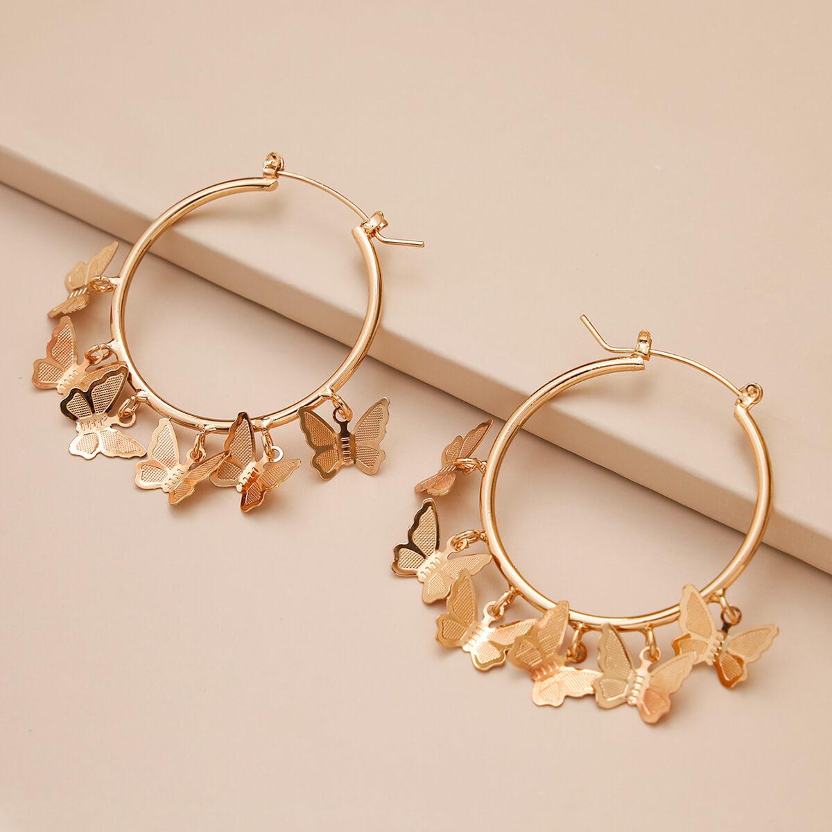 LW Lovely Trendy Butterfly Gold Earring