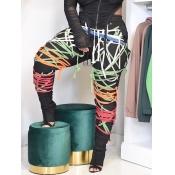 Lovely Street Print Multicolor Pants