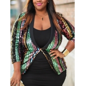 Lovely Party Print Sequined Decoration Multicolor