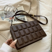 Lovely Chic Chocolate Bar Brown Crossbody Bag