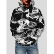 Lovely Street Smoke Print Patchwork Black Boy Hood