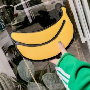 Lovely Fashion Banana Shape Yellow Crossbody Bag