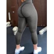 Lovely Sportswear High-waisted Elastic Grey Leggin