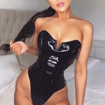 Lovely Sexy Skinny Black Teddies