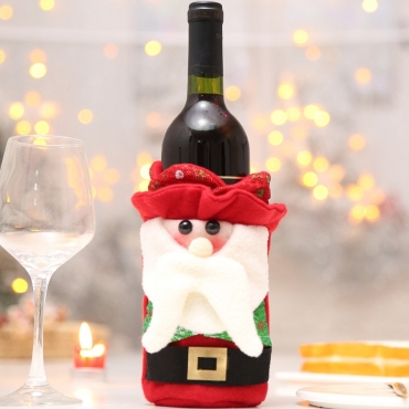 Lovely Christmas Day Patchwork Red Wine Bag