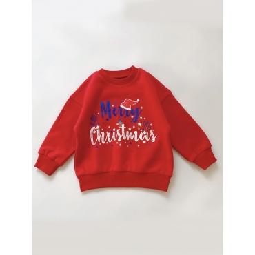 Lovely Trendy Christmas Day Letter Print Red Boy H