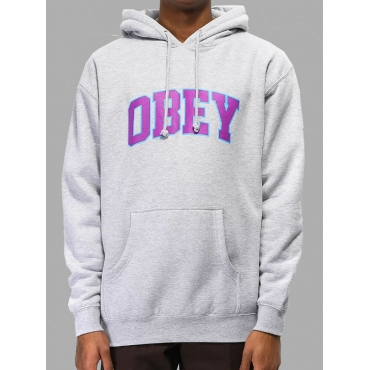 Lovely Street Hooded Collar Letter Print Grey Hood