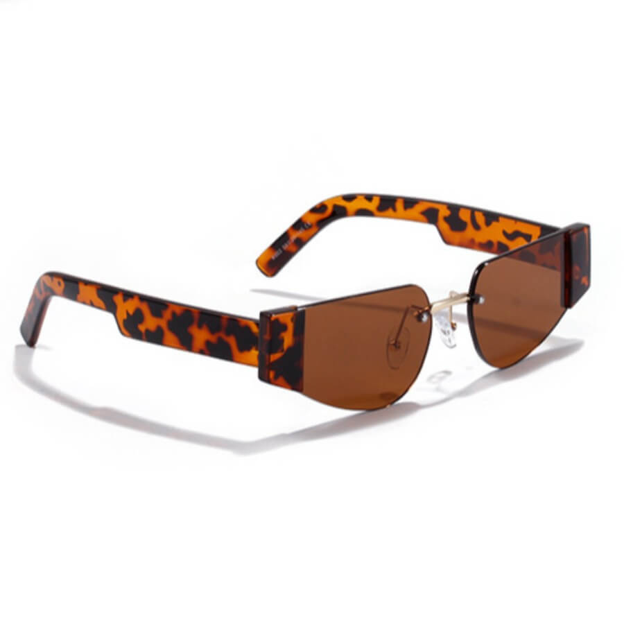Lovely Casual Leopard Print Brown Sunglasses