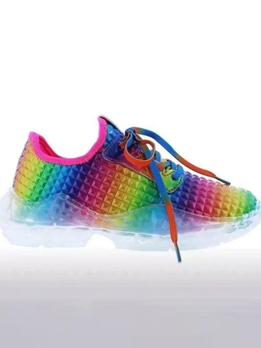 Lovely Sporty Tie-dye Multicolor Sneakers