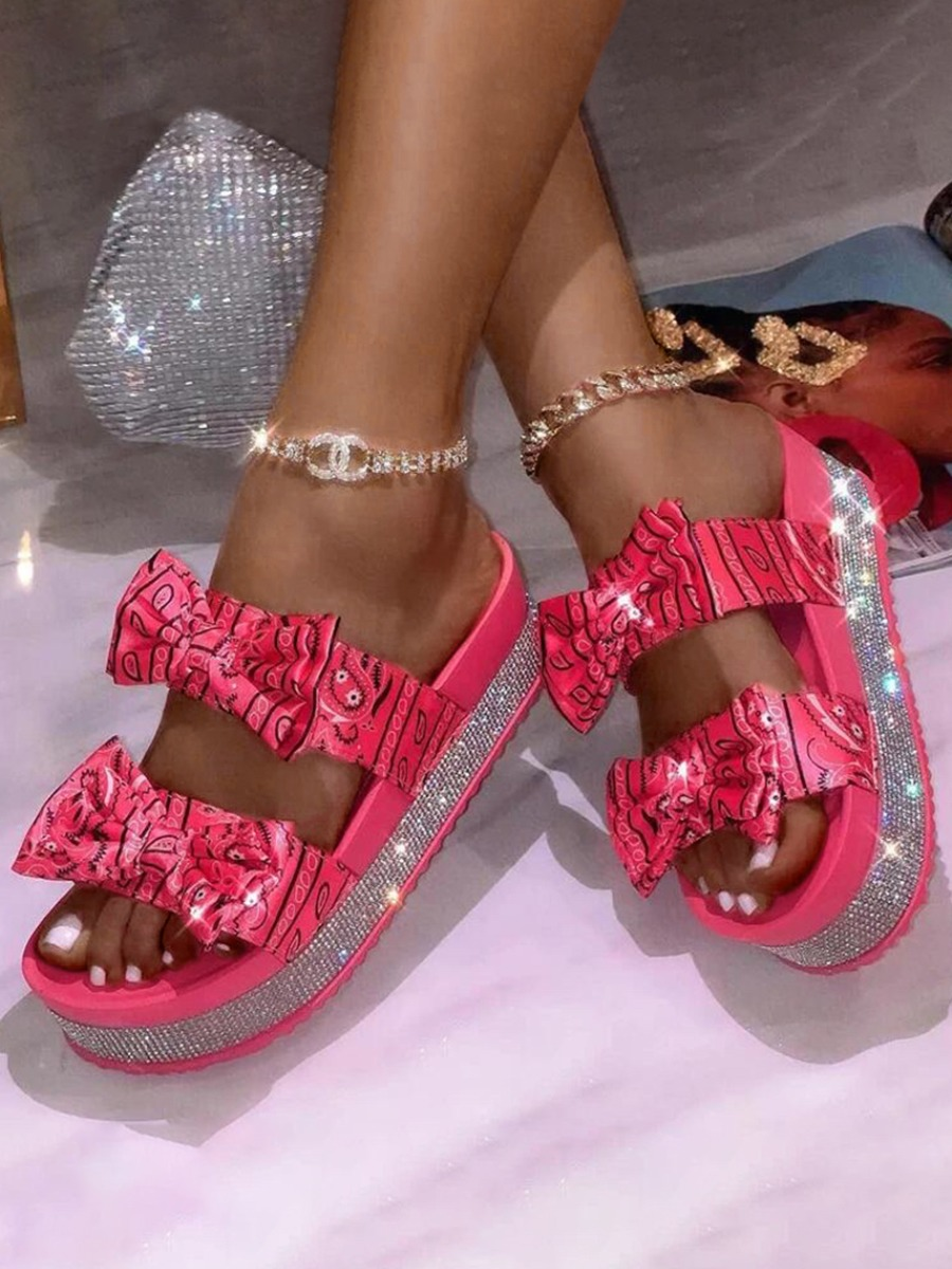 LW Sweet Bow-tie Red Sandals