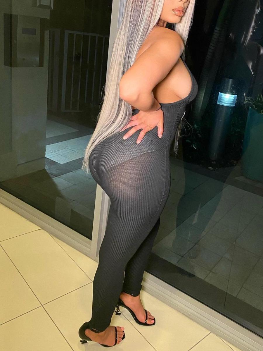 Lovely Sexy V Neck Backless Black One-piece Jumpsuit