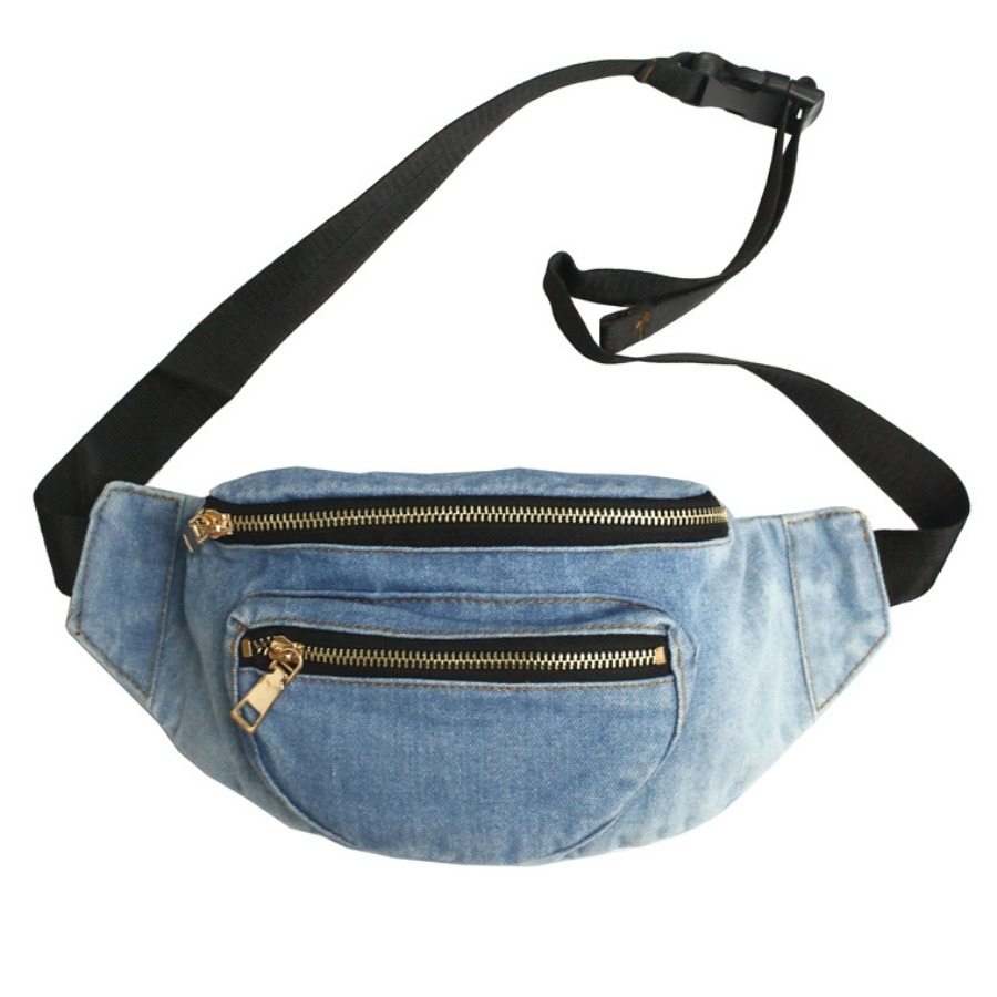 LW Sporty Buckle Strap Baby Blue Bum Bag