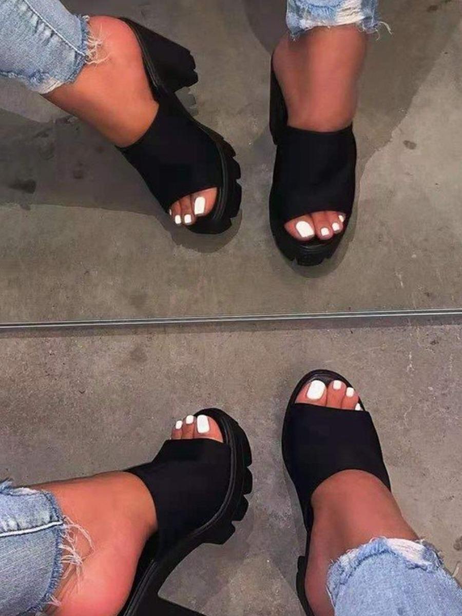 LW BASICS High Sole Black Heels