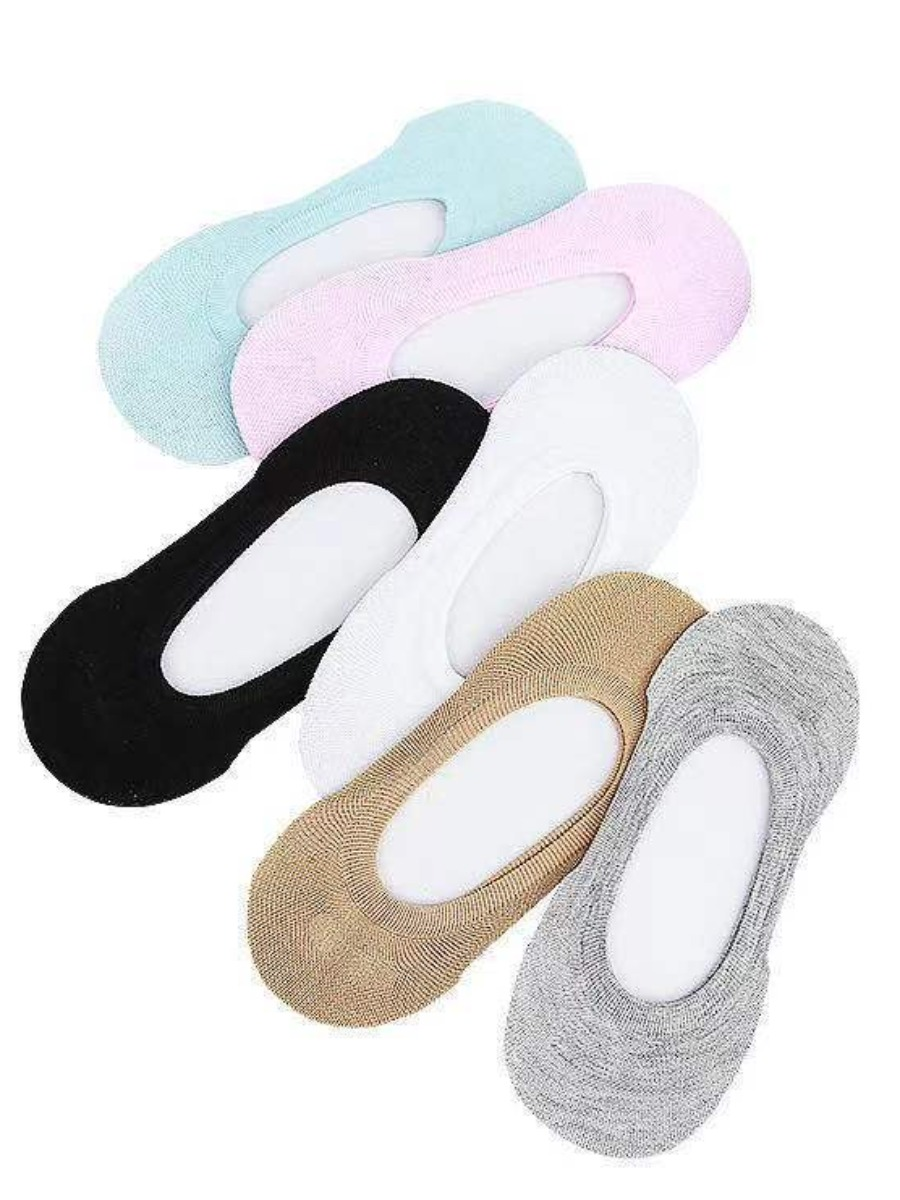 Lovely 6-pair Casual Shallow-mouth Multicolor Socks (Random Colors)