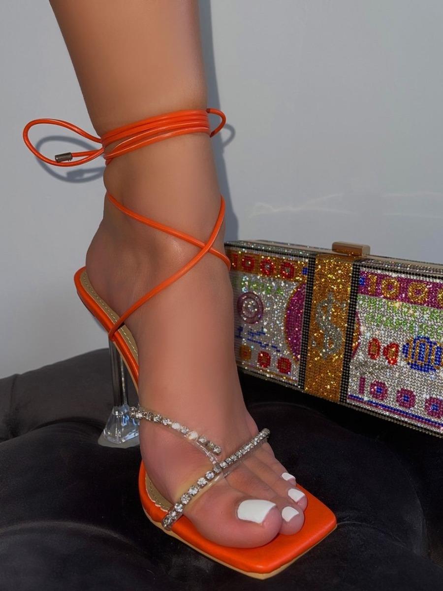 LW SXY Tie Leg Jacinth Heels