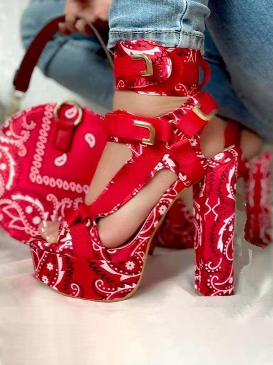 LW Sexy Cashew Print Red Heels