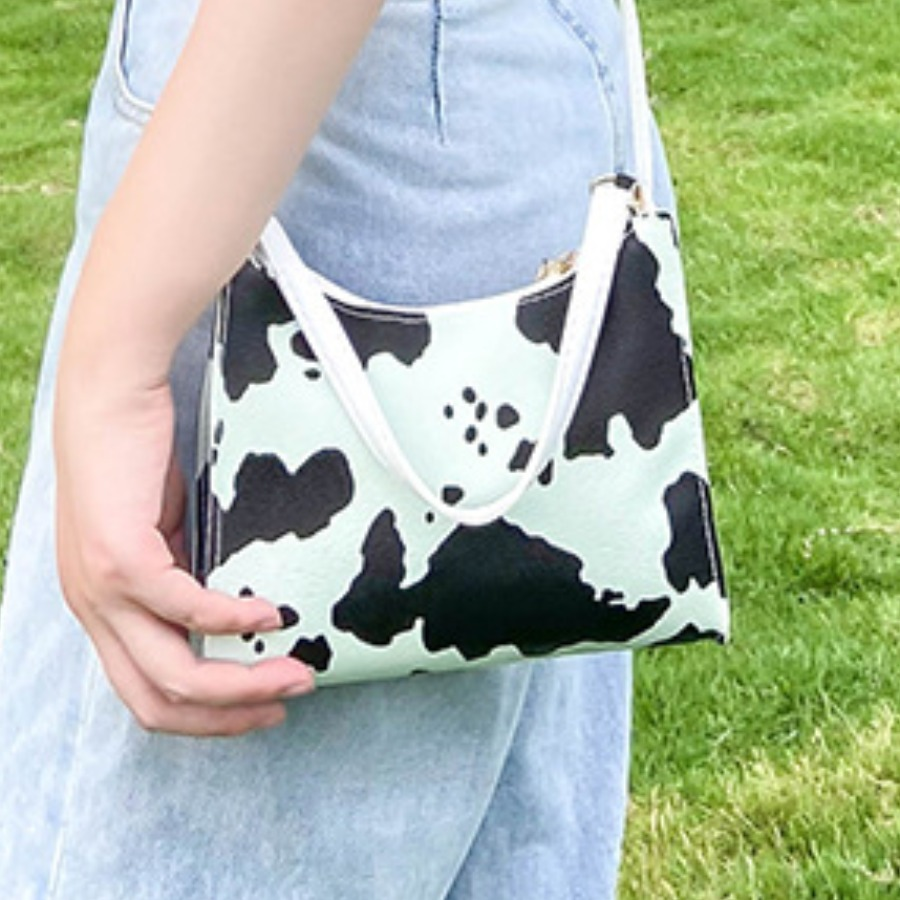 Lovely Casual Cow Print White Crossbody Bag