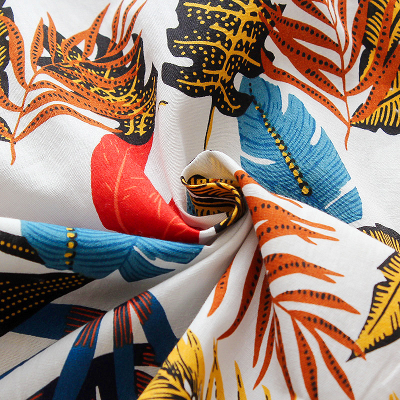 LW COTTON Boy Boho Floral Print Patchwork White Two Piece Shorts Set