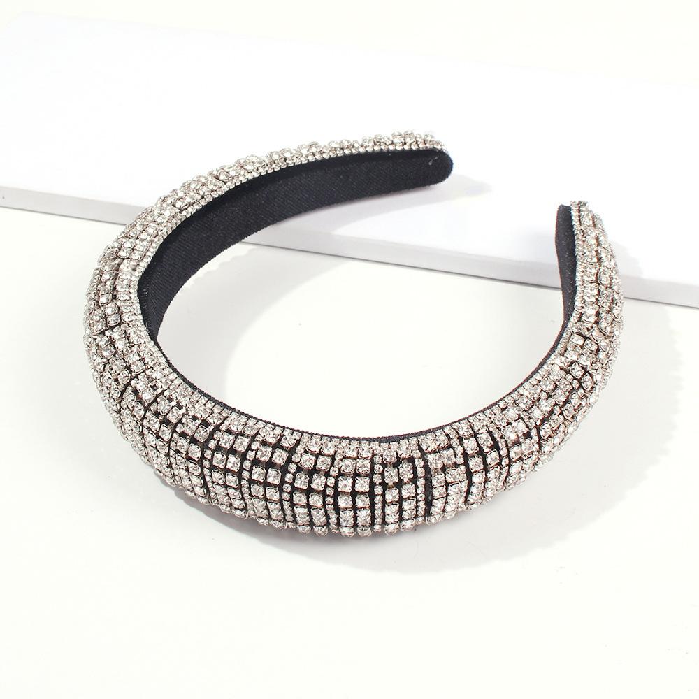 LW Casual Crystal Silver Headband