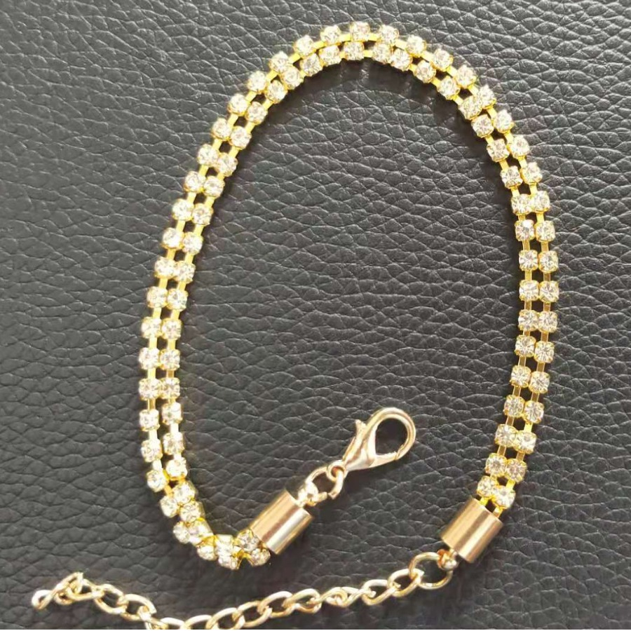 LW Casual Pearl Chain Decoration Gold Anklet