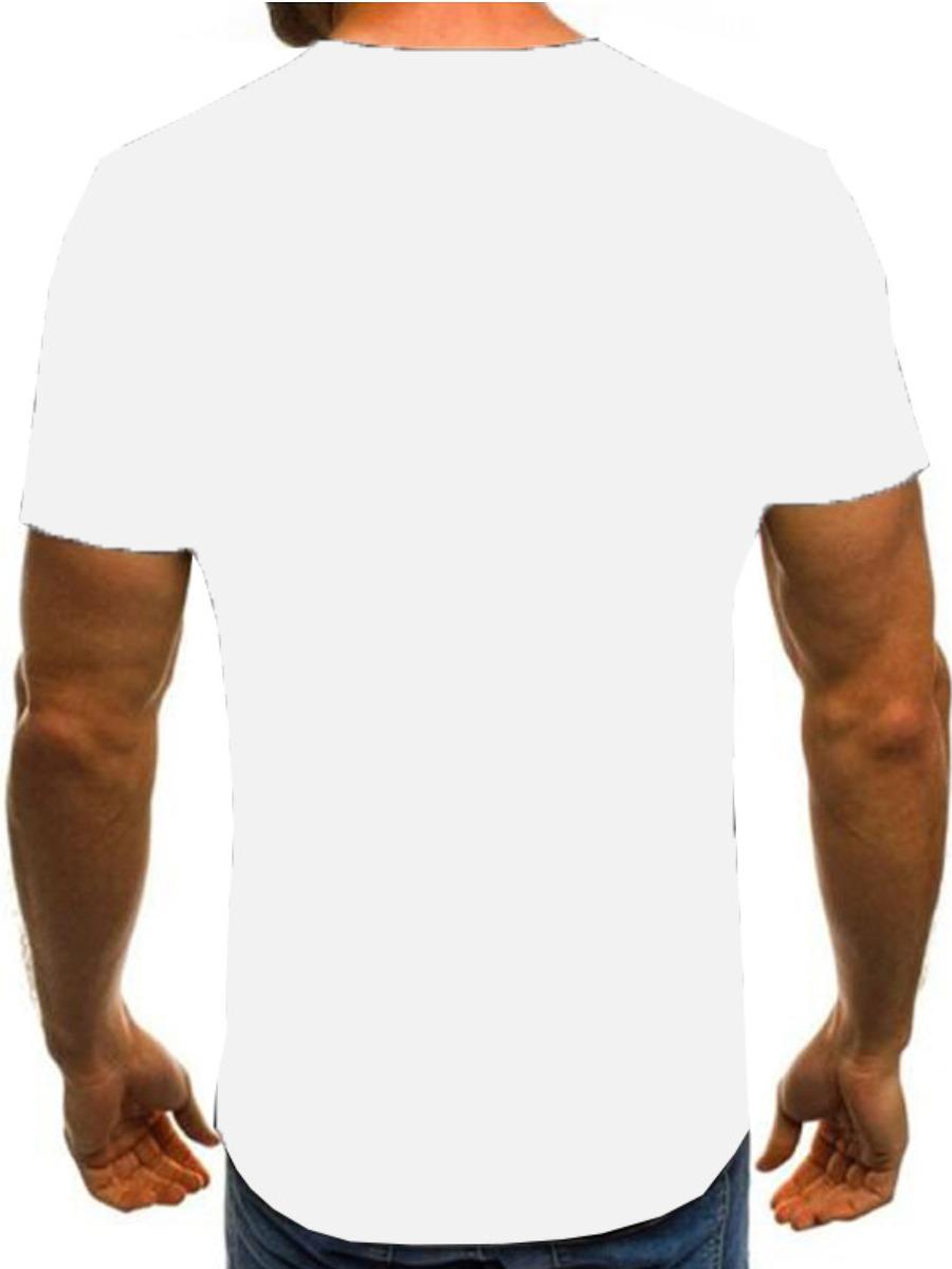 LW Men Round Neck Letter Print T-shirt