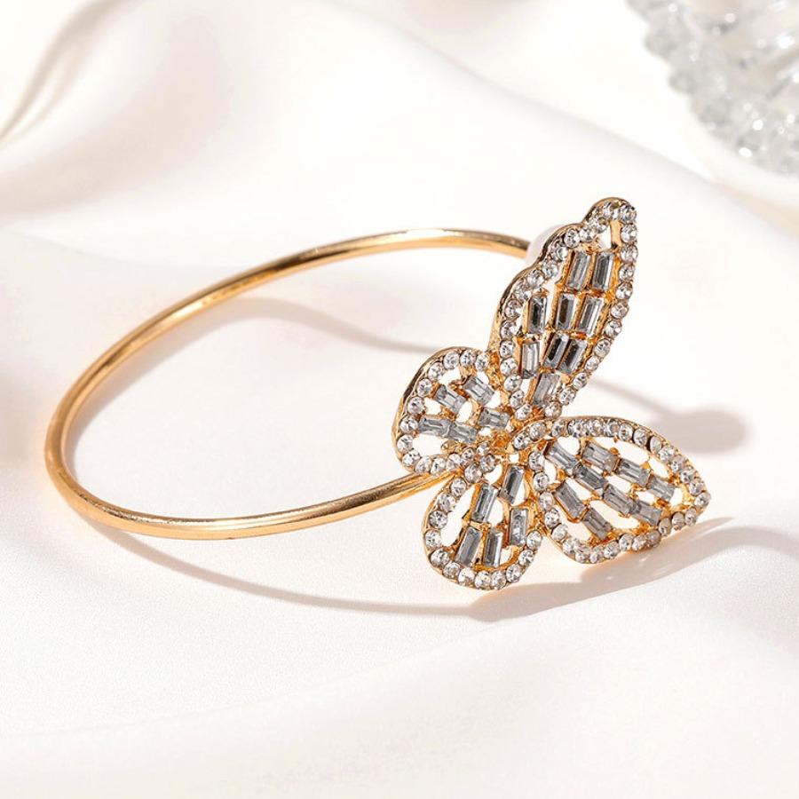 Lovely Casual Butterfly Decoration Gold Bracelet