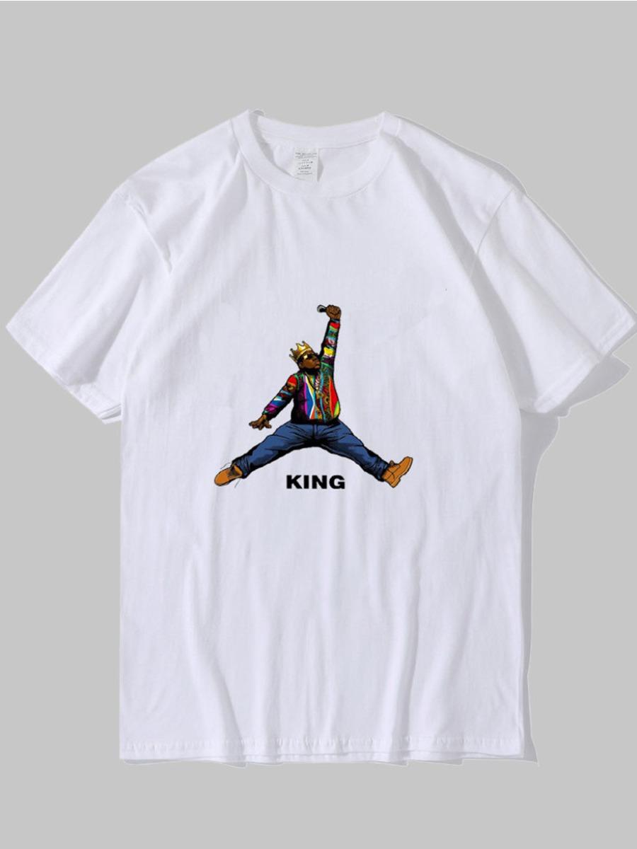LW Men Figure Letter Print T-shirt