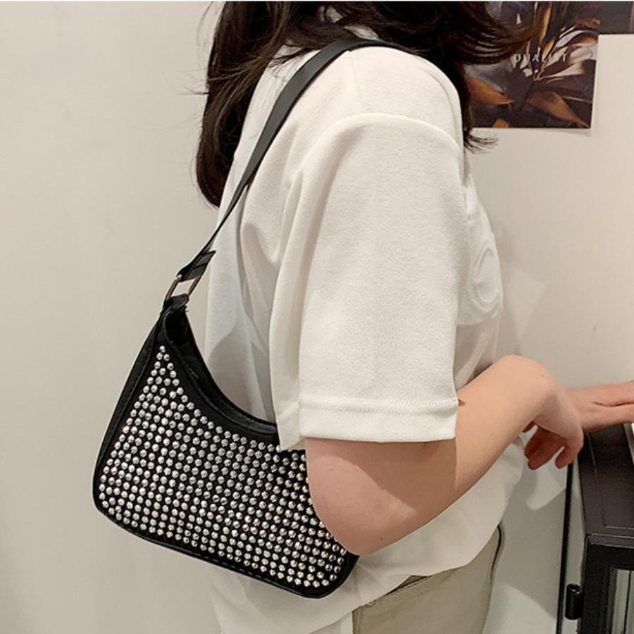 LW Crystal Decoration Shoulder Bag