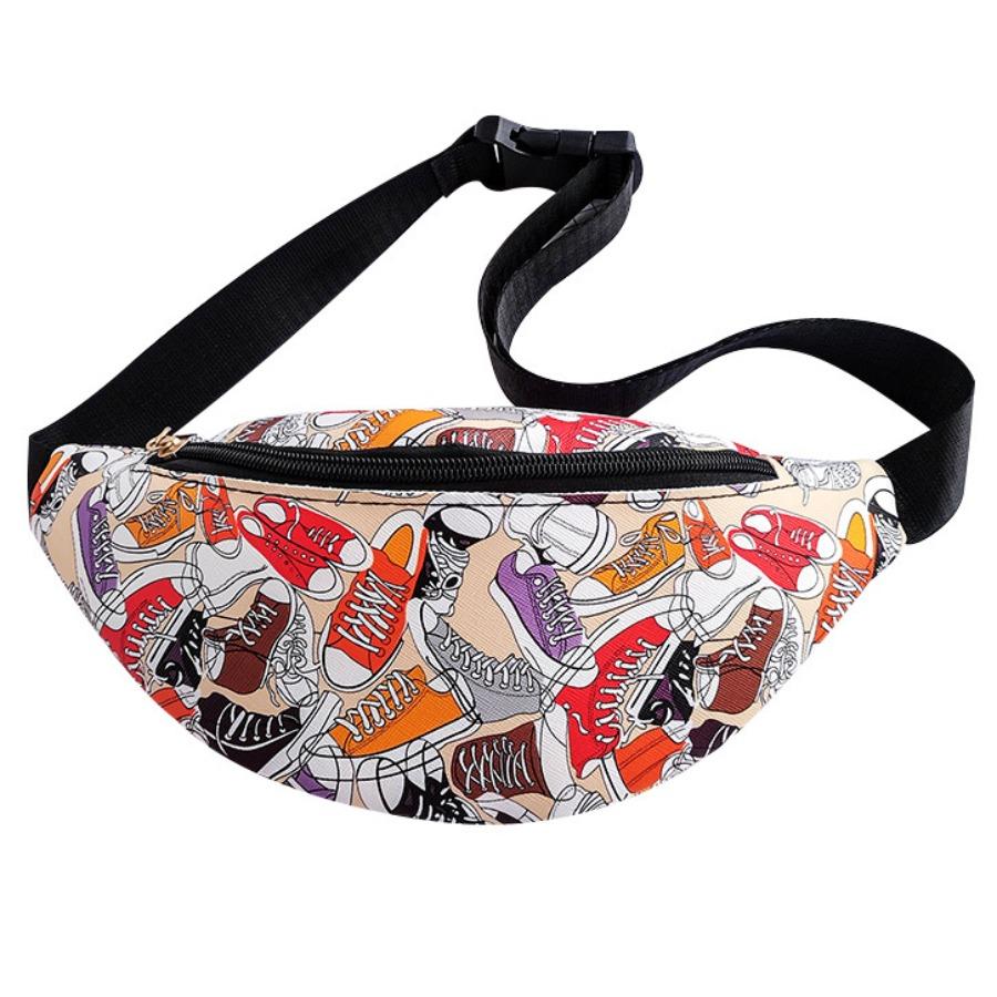 LW Shoe Print Adjustable Strap Bum Bag