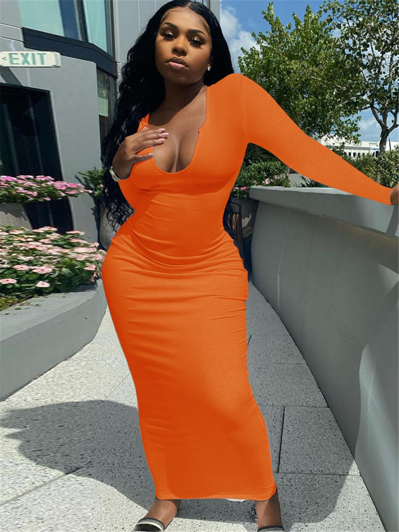 LW Plus Size U Neck Bodycon Dress
