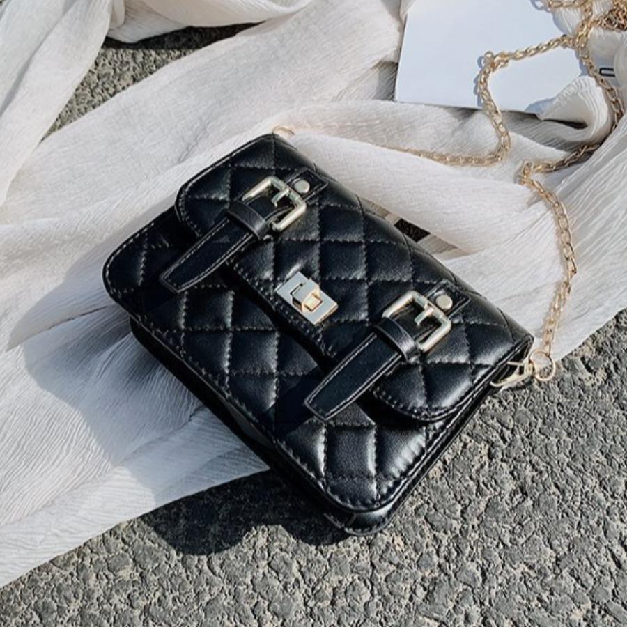 Lovely Buckle Design Crossbody Bag