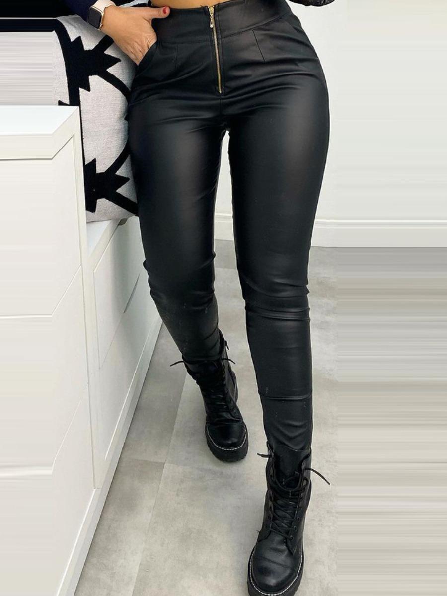 LW BASIC Zipper Design  Skinny Pants