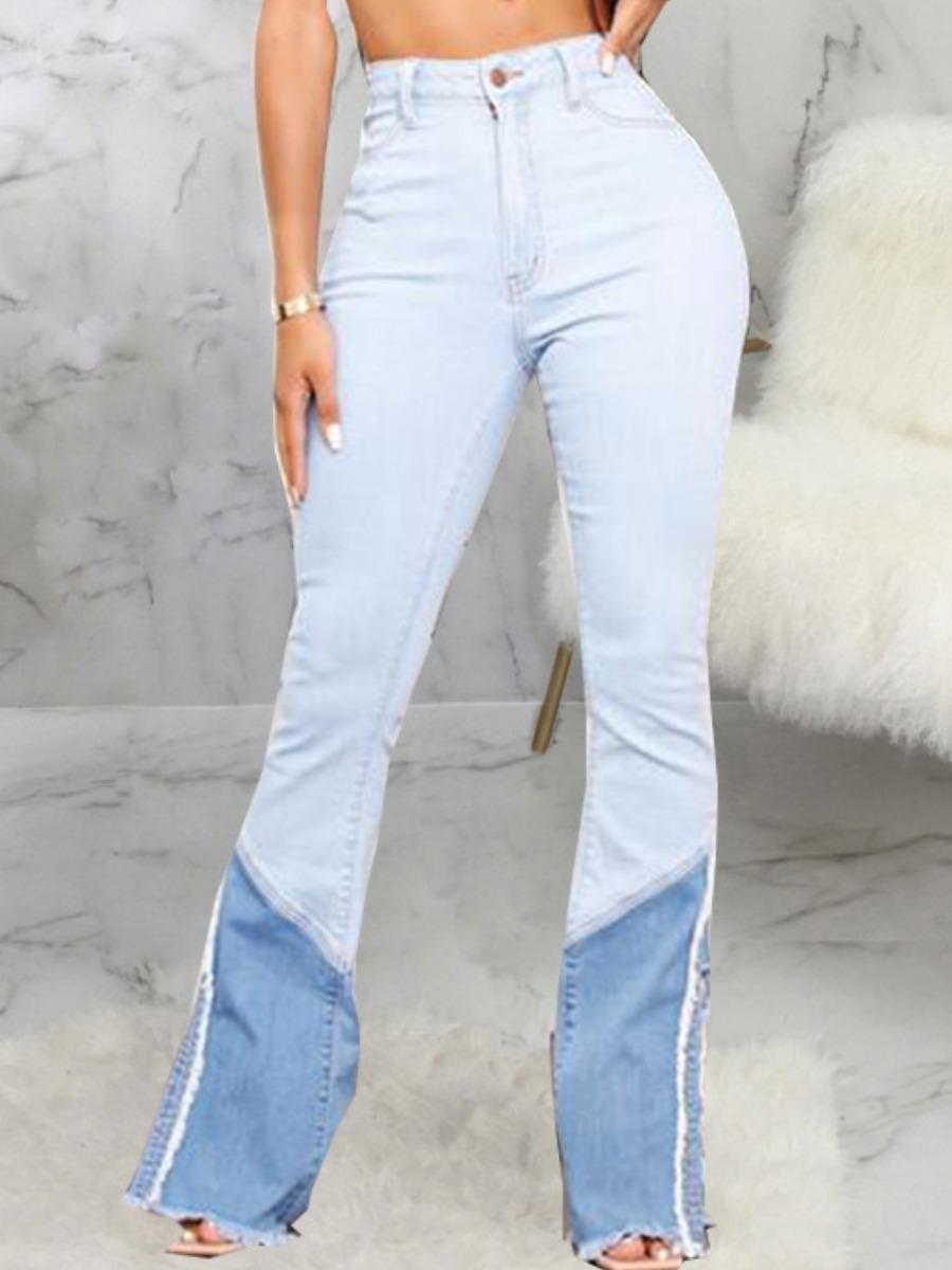 LW Raw Edge Flared Jeans