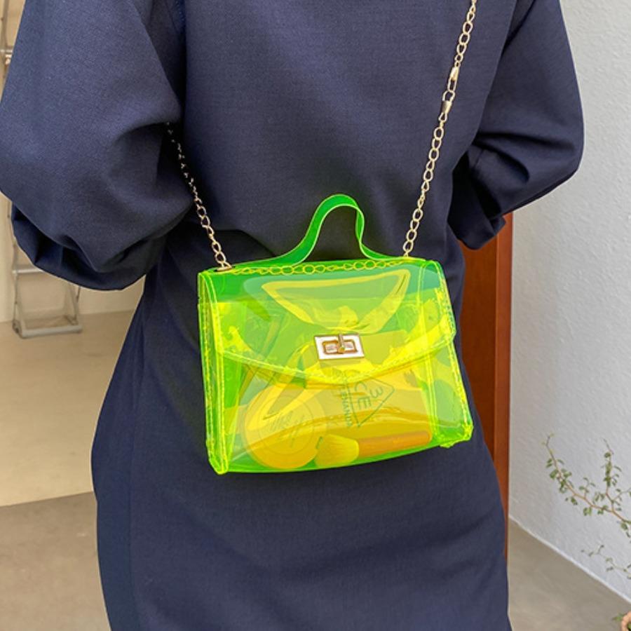 LW See-through Chain Strap Crossbody Bag
