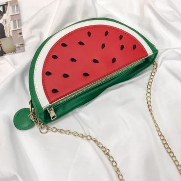 LW Watermelon Patchwork Crossbody Bag