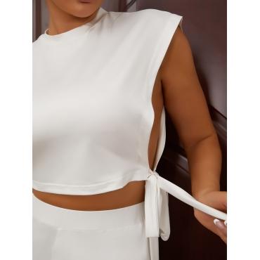 LW Split Bandage Design Two Piece Shorts Set