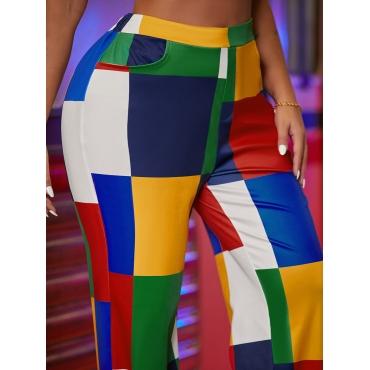 LW Color-lump Patchwork Pants (Without Waist Bag)