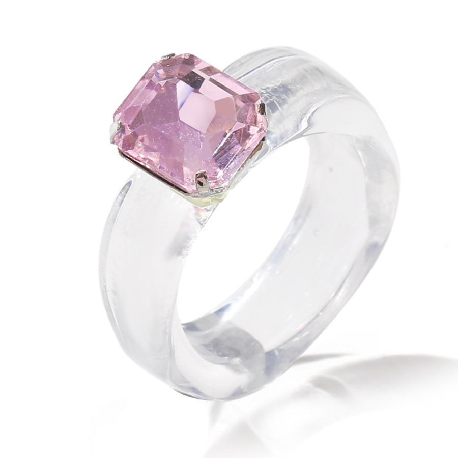 Lovely Crystal Diamond Ring