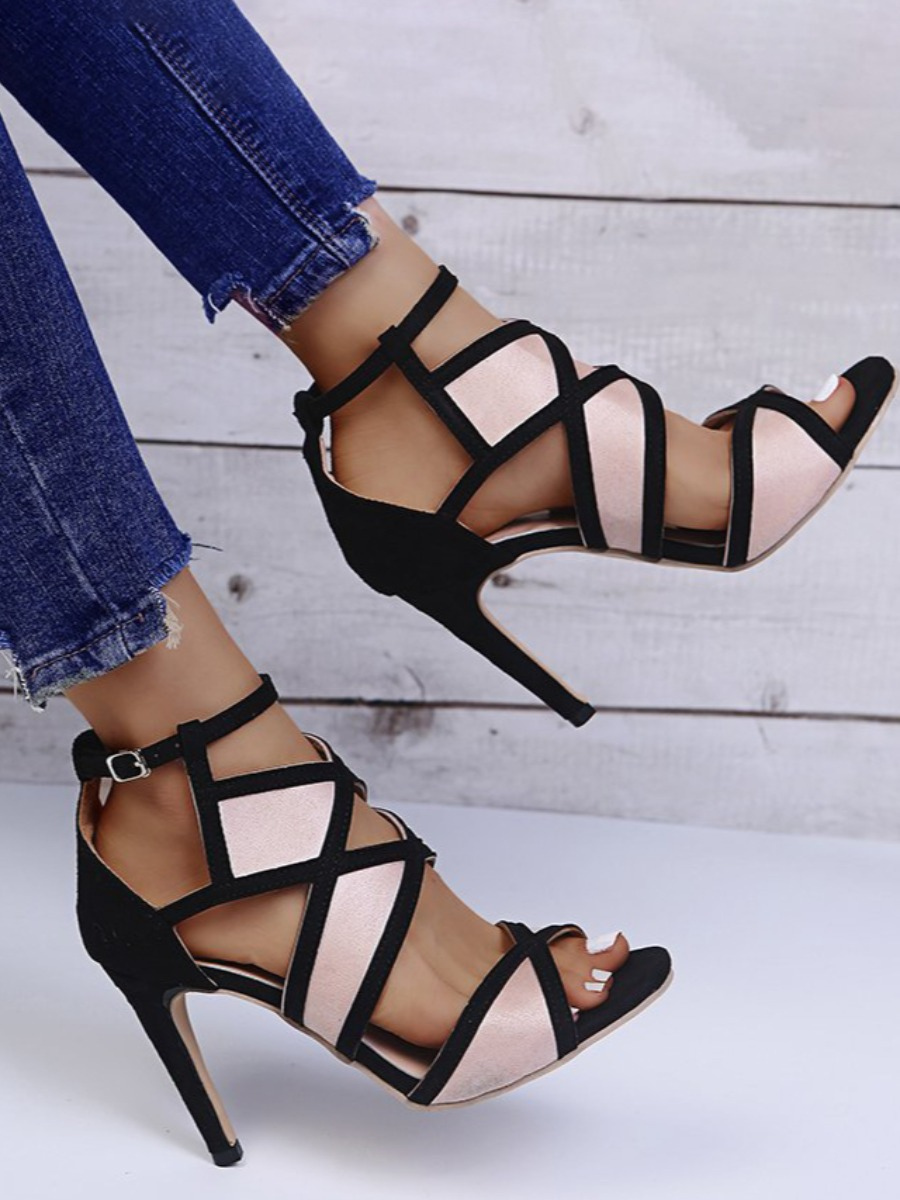 Lovely Hollow-out Buckle Design Pumps