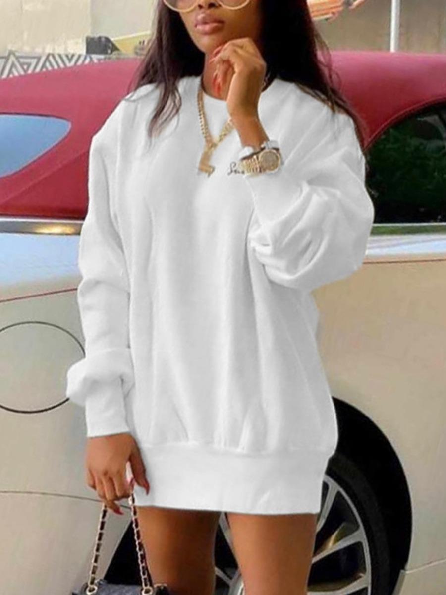 LW BASICS Round Neck Loose Sweat Dress