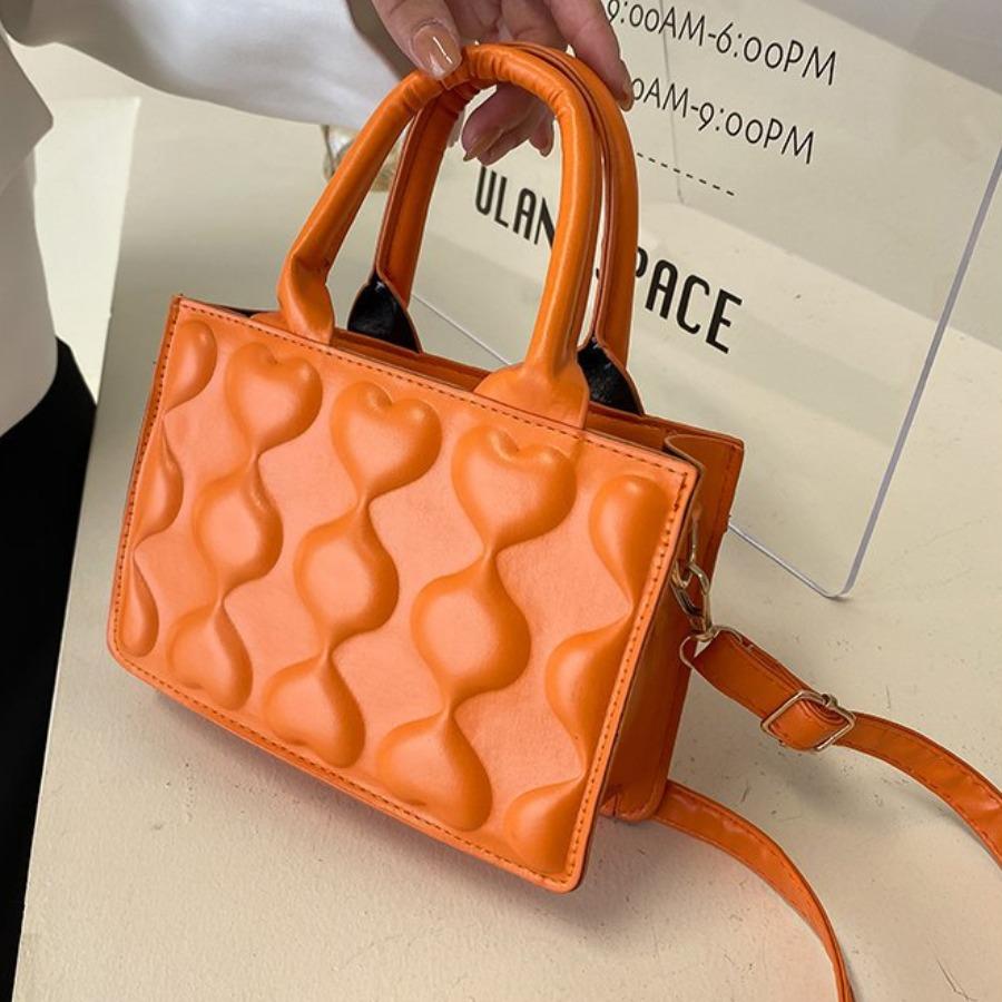 LW Heart Decoration Clutch Bag